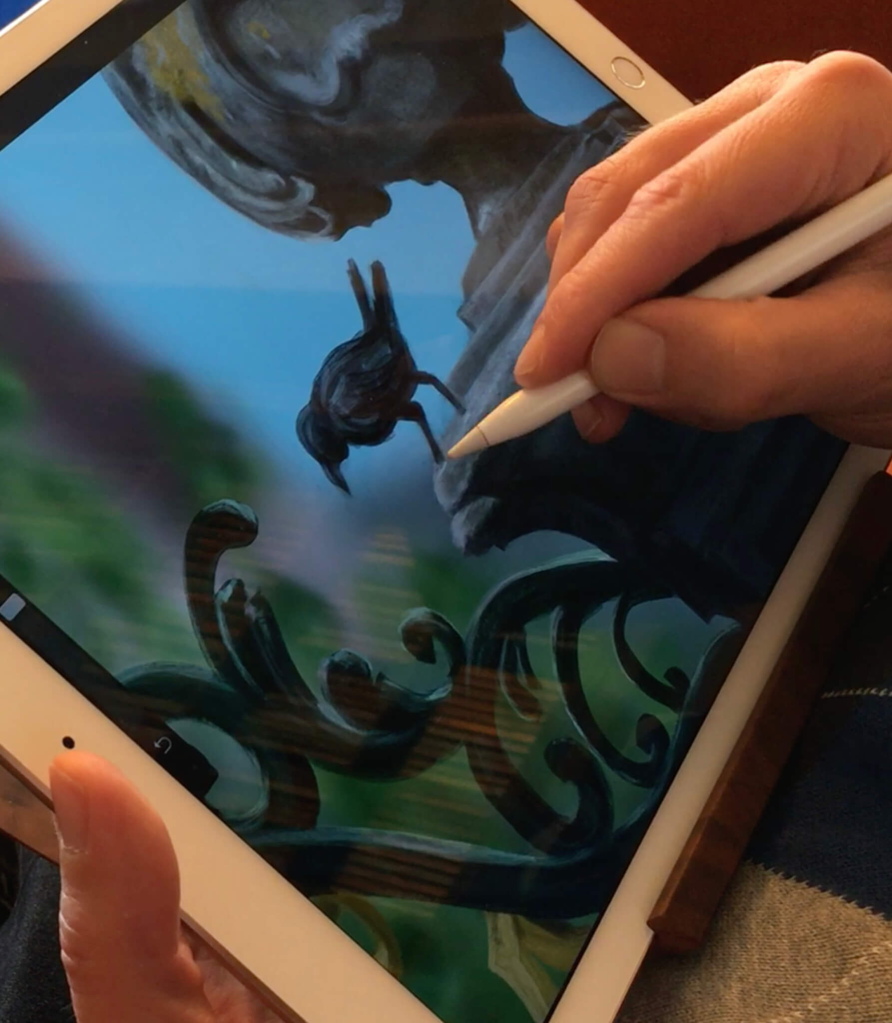 Stefan de Groot Hand Apple Pencil iPad Pro