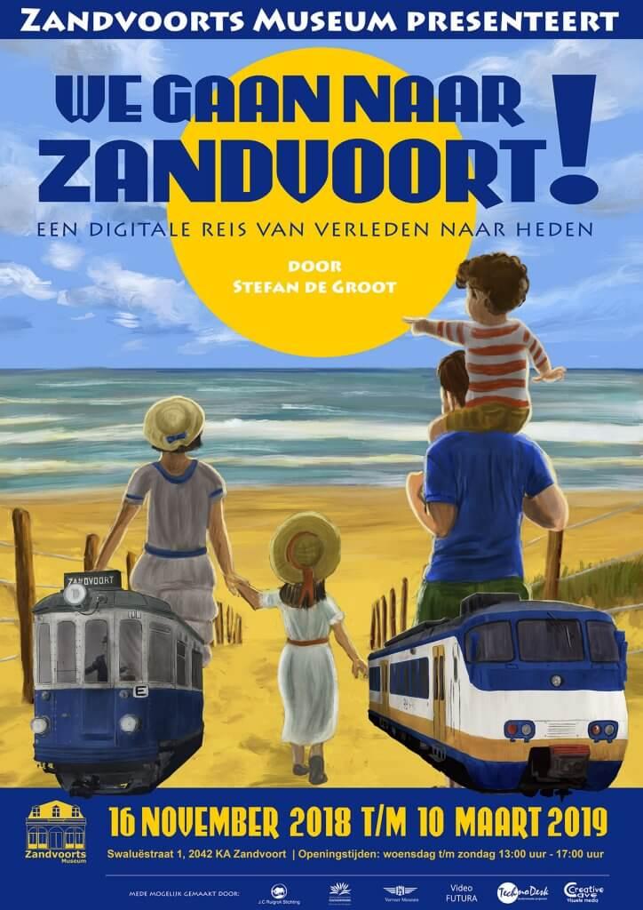 We Gaan Naar Zandvoort! tentoonstelling poster