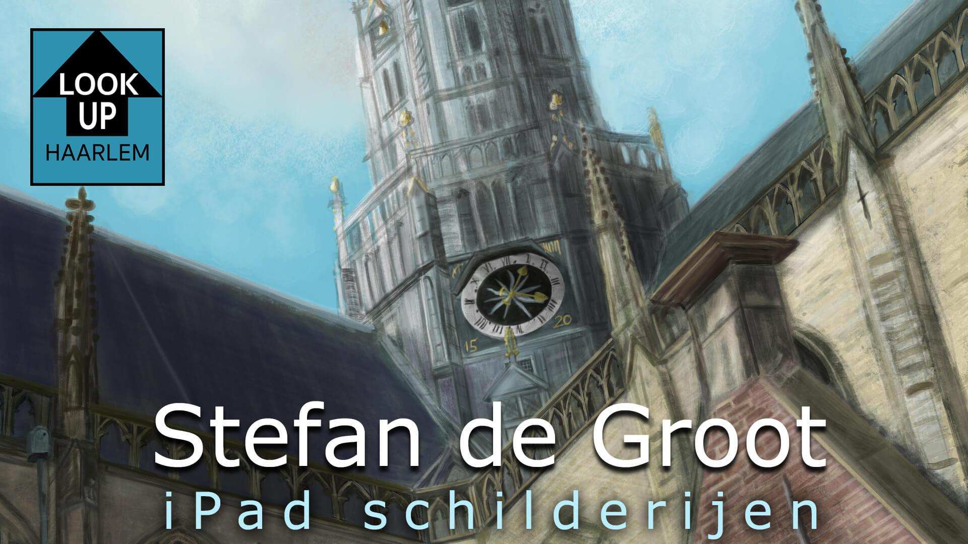 Stefan de Groot LookUp Haarlem iPad Schilderijen