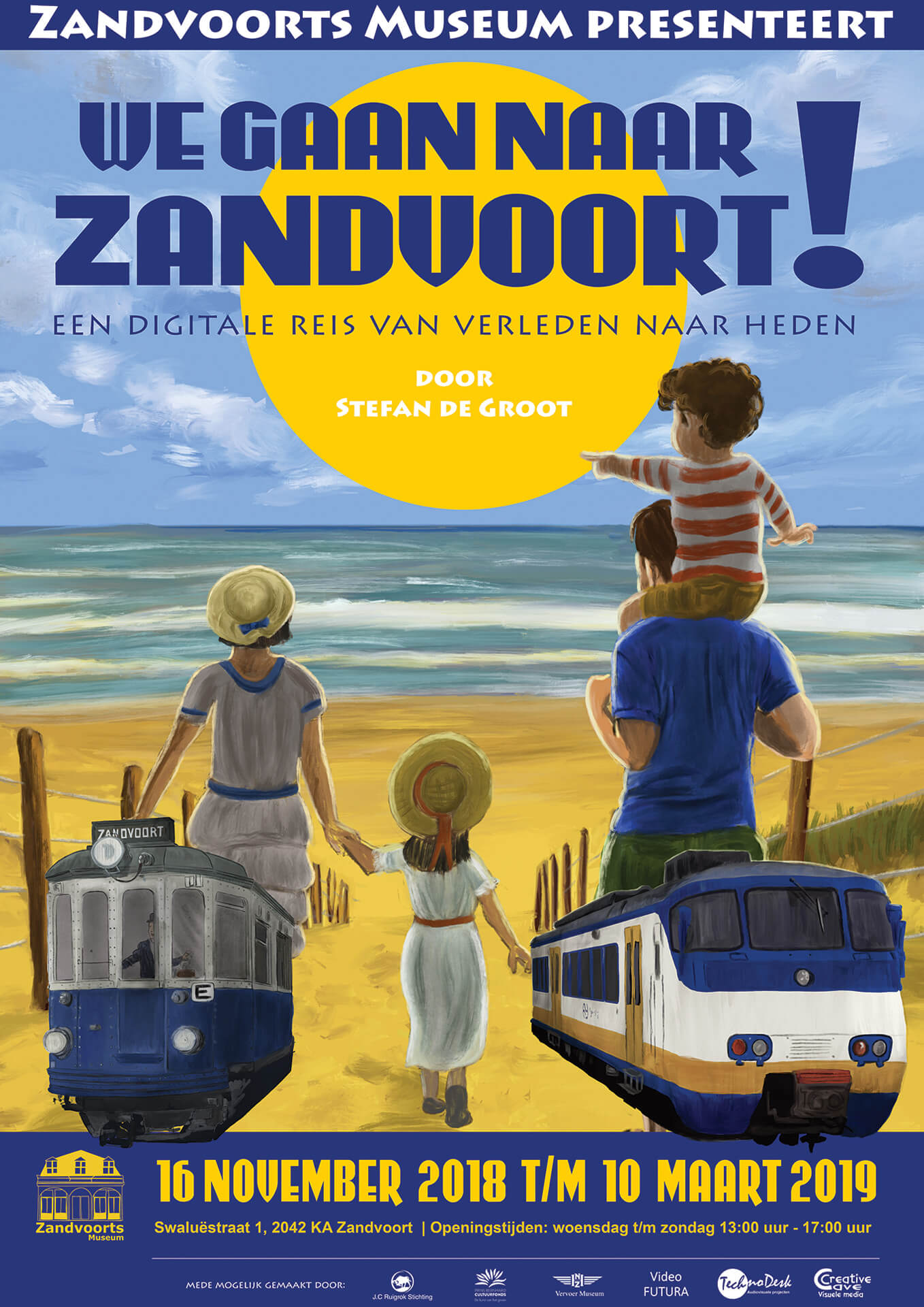We gaan naar Zandvoort! tentoonstelling poster Zandvoorts Museum ontwerp Stefan de Groot