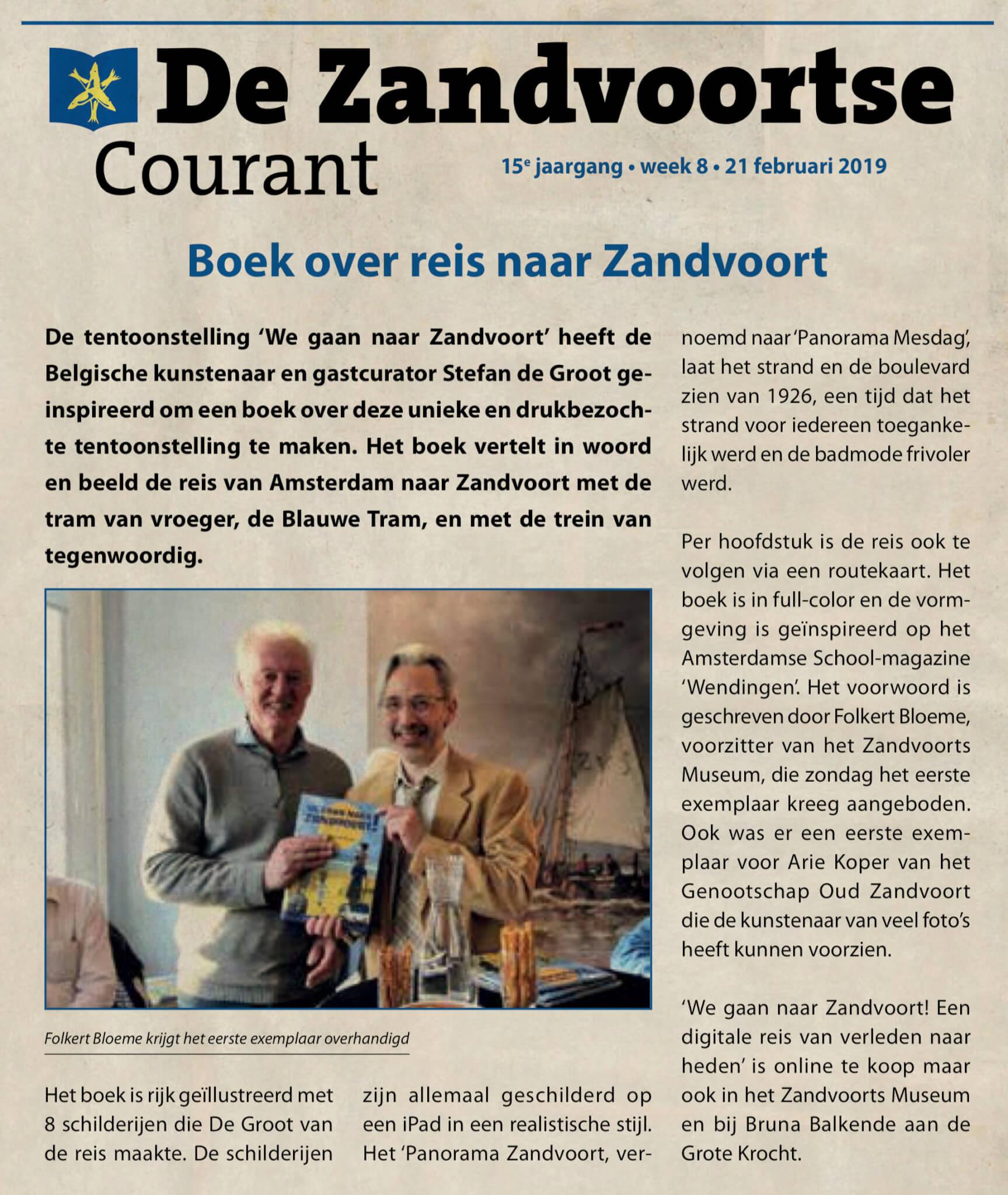 Zandvoortse Courant Boekpresentatie We gaan naar Zandvoort! Stefan de Groot