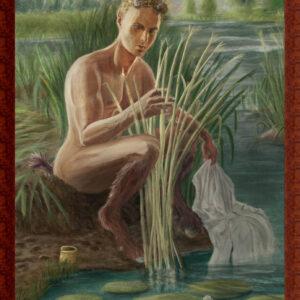 Pan's jacht op Syrinx geschilderd door Stefan de Groot