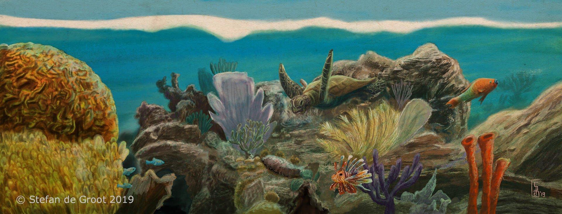 Stefan de Groot levende schilderijen An Ocean Story