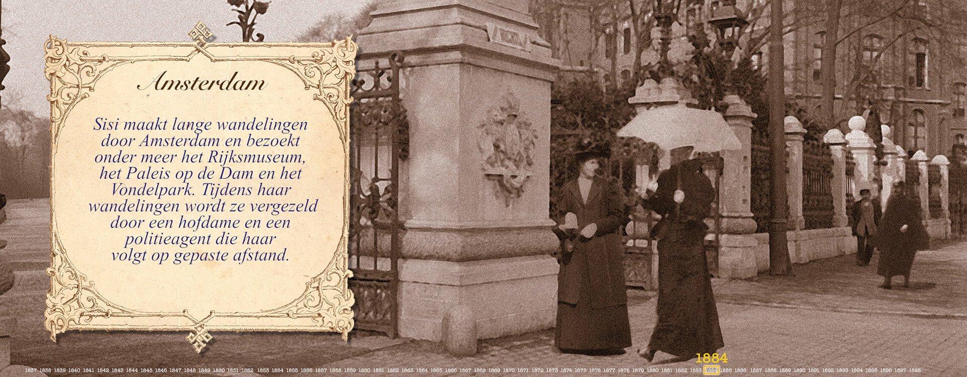 Sisi in Amsterdam Vondelpark 1884