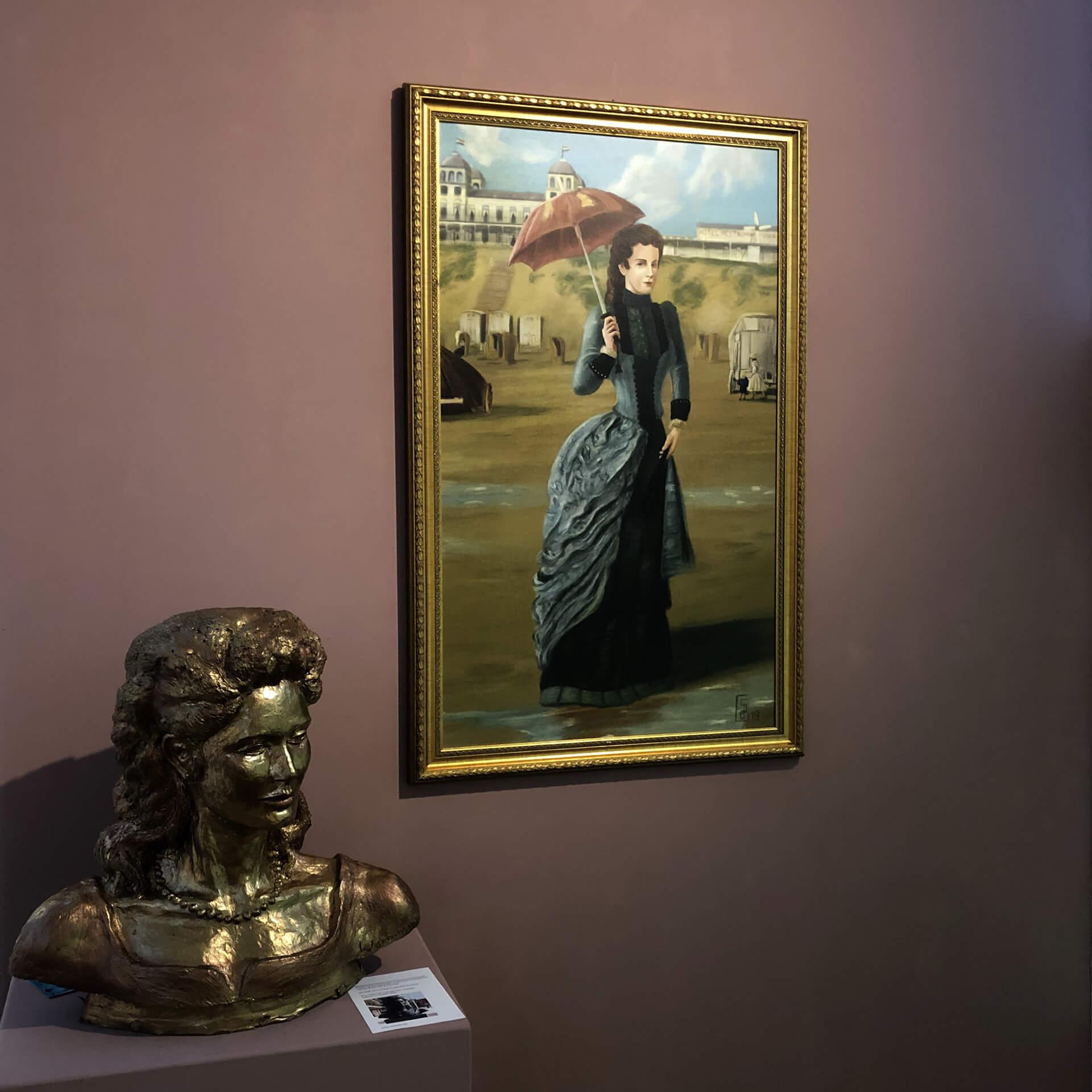 Portret Sisi in Zandvoort Zandvoorts Museum door Stefan de Groot