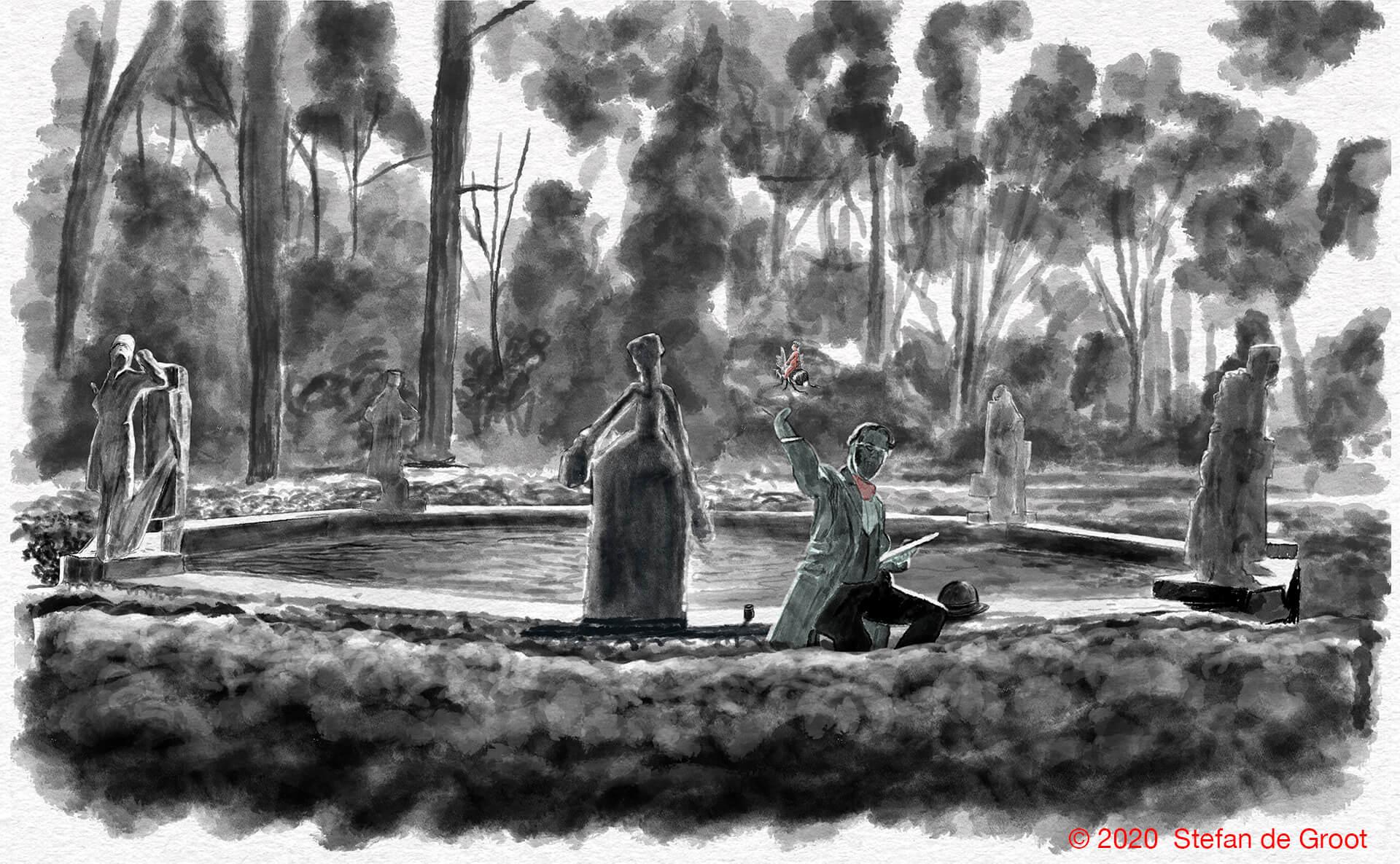 Stefan de Groot Hildebrand fontein Het Spaarne Stroomt