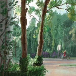 Haarlem Kenaupark schilderij Stefan de Groot