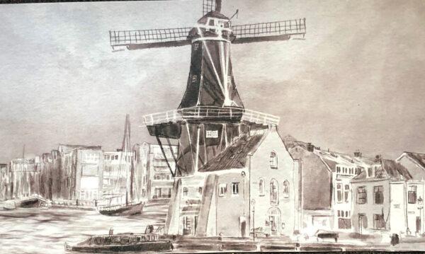 Haarlem Molen de Adriaan