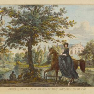 Keizerin Sisi te paard in Elswout 1885